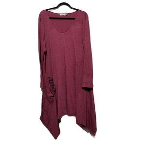 Chalet Asymmetrical Dress w/Pockets 1X